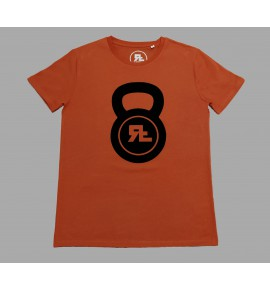 Red men's t-shirt Kettlebell 17-RF