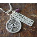 Necklace I Work To Be Strong 03BL