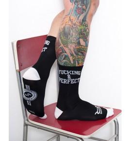 Ponožky Fucking & Perfect černá CMB11