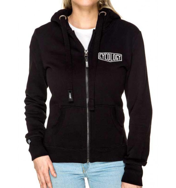 Black hoodie woman Cycology 040-FWNE