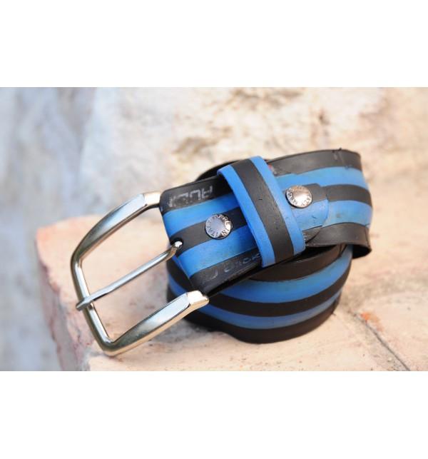 Pánský pásek B-Recycled C007M, Size 50, Barva Modrá B - Recycled C007M