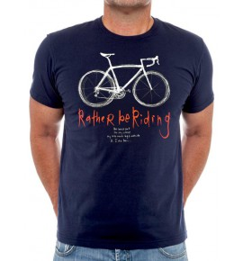 T-shirt short sleeve Rather Be Riding 007-MMBL