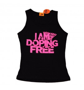 Canotta femminile nera I am doping free 004-IMCWN