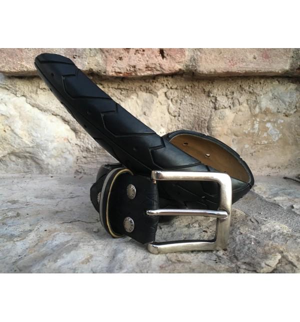 Pánský pásek B-Recycled C006M, Size 48, Barva Černá B - Recycled C006M