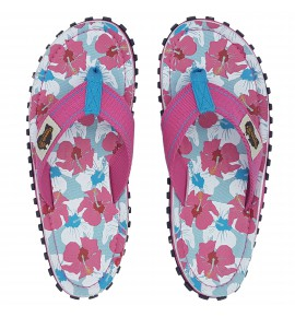 Flip-Flops Gumbies from recycled tires - Gu0891 - Mixed Hibiscus
