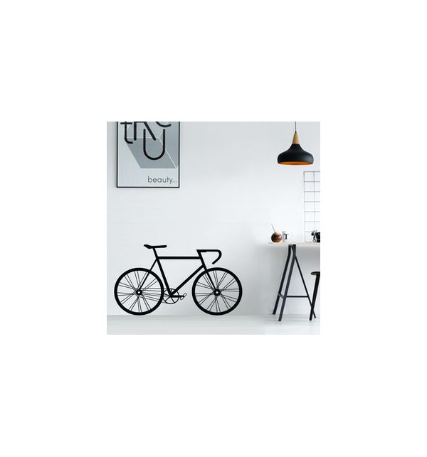 Gray Bicycle Sticker