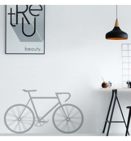 Grey Bicycle Sticker