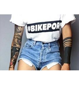 Women cyclist t-shirt Bikeporn