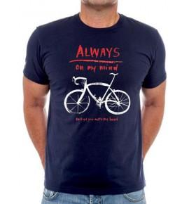 Tričko s cyklistickým motivem Always on my Mind 003-TMGR