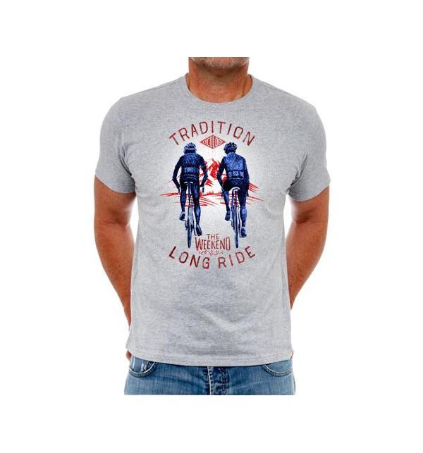 Šedé cyklistické tričko I Ride, Therefore I Am