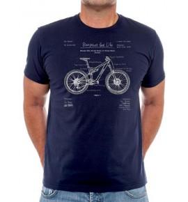 Tričko s cyklistickým motivem The Blueprint MTB