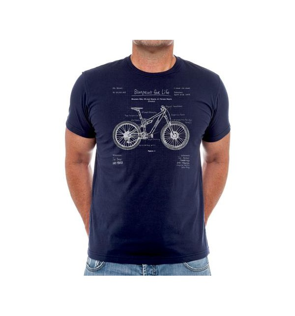 Cycling t-shirt The Blueprint MTB
