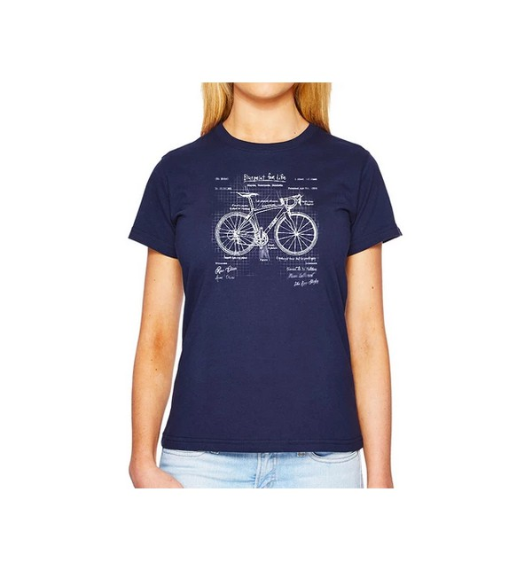 Blue cycling t-shirt Meaning of Life