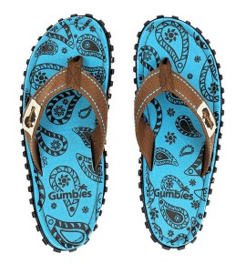 Flip-Flops Gumbies from recycled tires Gu0891- Paisley