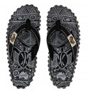 Flip-Flops Gumbies from recycled tires - Gu11 - Black Signature Pattern