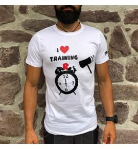 Men's white t-shirt I Love Training early 010-TFTMB