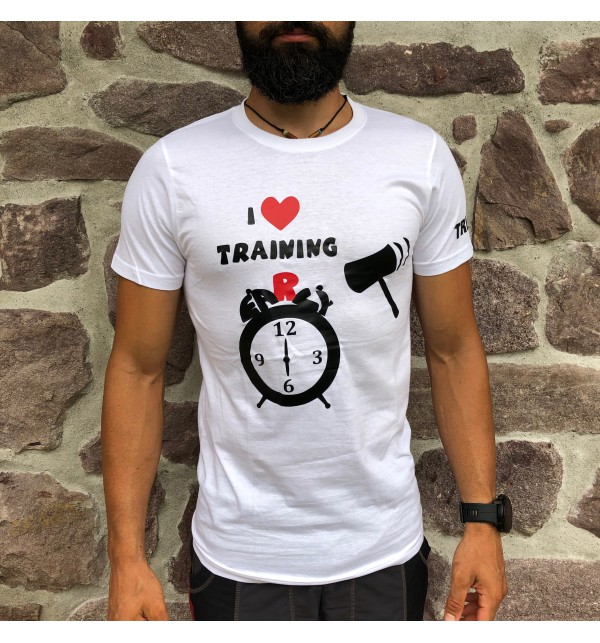 Maglietta maschile bianca I Love Training early 010-TFTMB