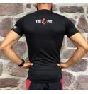 Pánské černé tričko Never Give up 009-TFTMN
