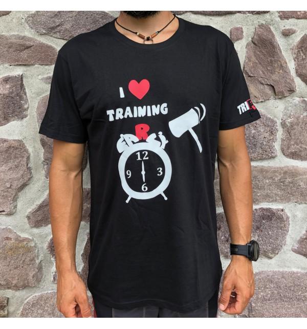 Men's black t-shirt I Love Training early 012-TFTMN