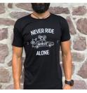 Černé tričko cyklistika Becyclist