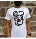 Triathlon t-shirt swim bike run