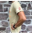 Pánské béžové tričko Never Give up 009
