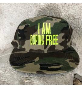 Maskáčová kšiltovka I am doping free