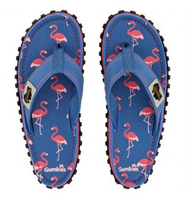 Flip-Flops Gumbies from recycled tires - Gu026 - Flamingo