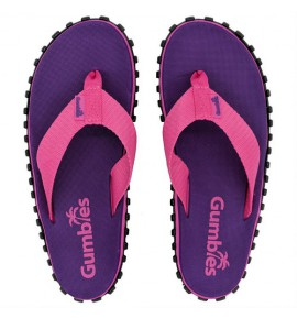 Flip-Flops Gumbies from recycled tires - Gu030 - Duckbill Purple