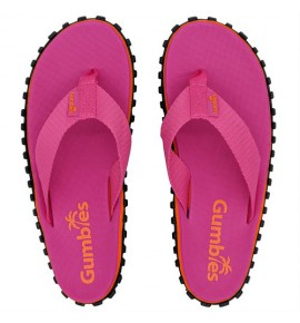 Flip-Flops Gumbies from recycled tires - Gu031 - Duckbill Pink