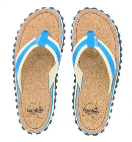 Flip-Flops Gumbies from recycled tires - Gu034 - Corker Blue