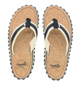 Flip-Flops Gumbies from recycled tires - Gu035 - Corker Black