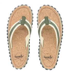 Žabky Gumbies z recyklovaných pneumatik - Gu036 - Corker Khaki