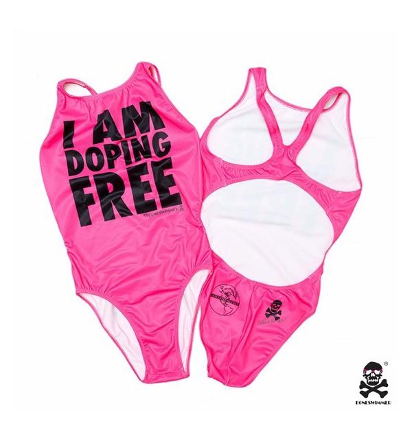 Costume femminile rosa I am doping free 005-IMCWR