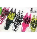 Dámské růžové plavky I am doping free 005-IMCWR