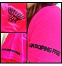Dámské růžové tričko I am doping free 002- IMTWR