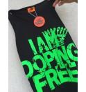 Canotta maschile nera I am doping free 003-IMCMN