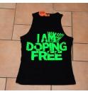 Pánské černé tílko I am doping free 003-IMCMN