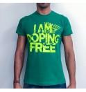 Maglia maschile verde I am doping free 001- IMTMV