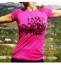 Maglietta femminile rosa I am doping free 002- IMTWR