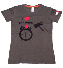 Women's gray t-shirt I Love Training 006-TFTFG