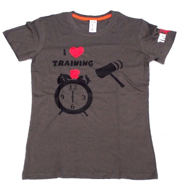 Men's grey t-shirt I Love Training early 11-TFTMG