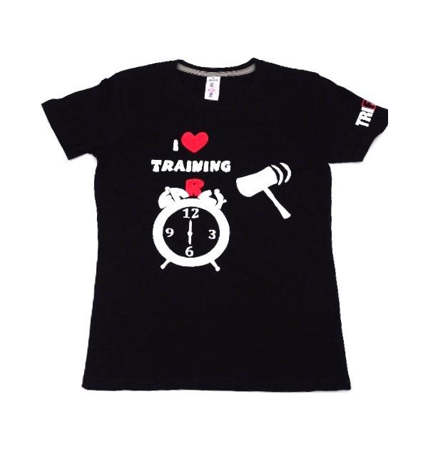 Maglietta maschile nera I Love Training early 012-TFTMN