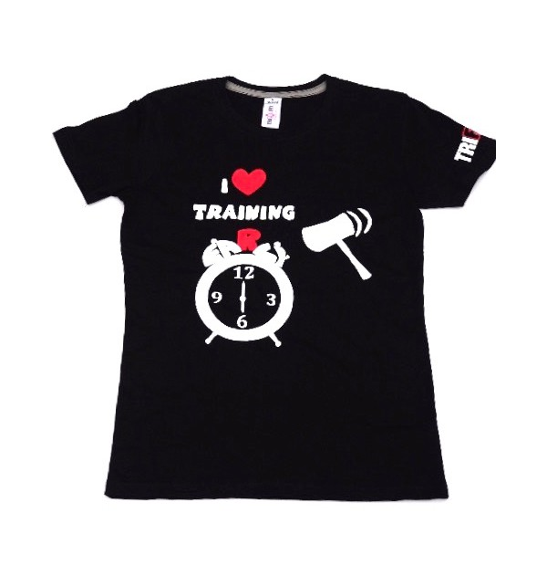 Men's black t-shirt I Love Training early 012-TFTMN