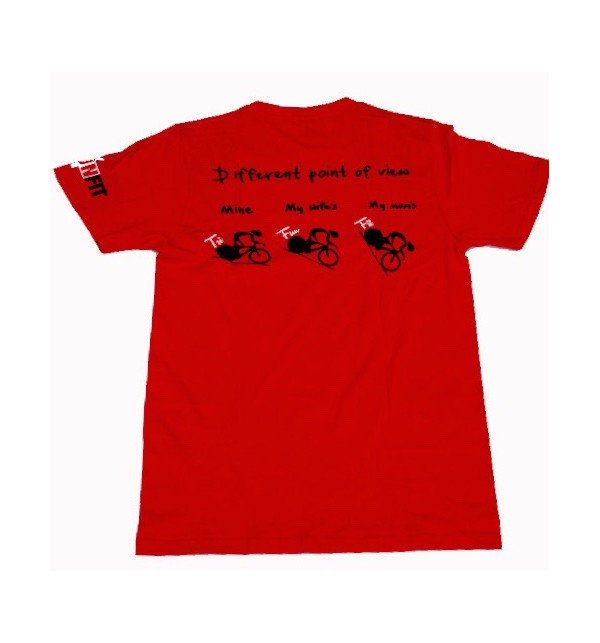 Men's red t-shirt Different Point of View 016-TFTMN