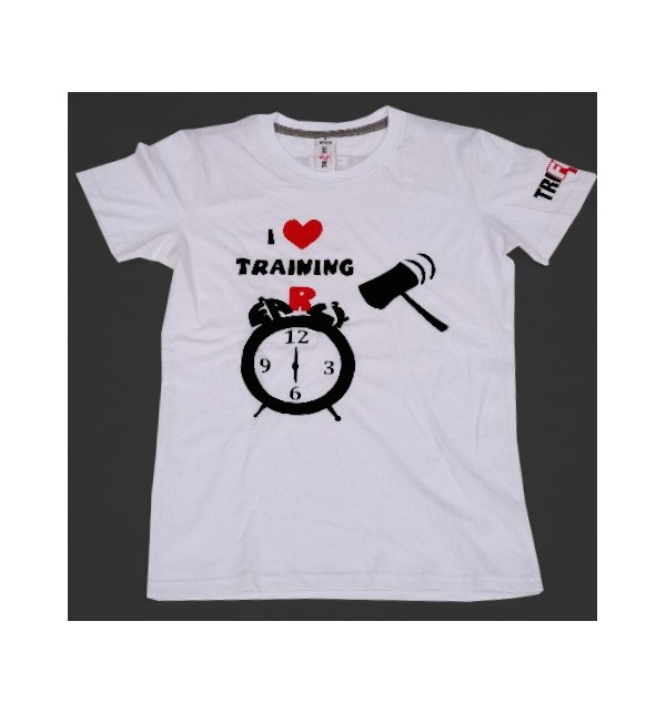 Women's white t-shirt I Love Training  004-TFTFB