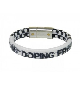 White female bracelet I am doping free  by Paul Meccanico 018-IMPBM