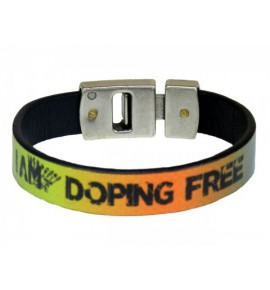 Multicolor unisex bracelet I am doping free by Paul Meccanico 020-IMPBM