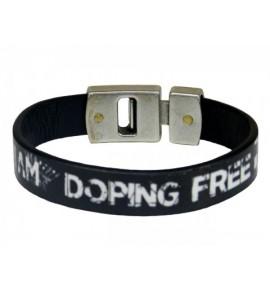 Braccialetto unisex nero I am doping free by Paul Meccanico 021-IMPBM