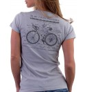 Grey t-shirt Art of Bike 004-TWGR